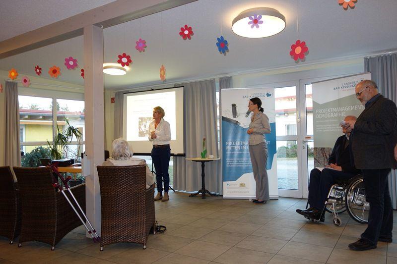 Begrüßung Gastgeberin Haus Kramerswiesen Frau Klopf